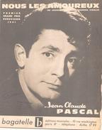 Partition Nous Les Amoureux Jean-Claude Pascal - Vocals