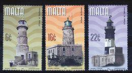 Malta Set Of Stamps To Celebrate Maltese Lighthouses  2001. - Malta