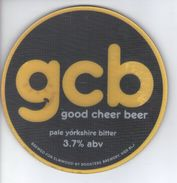 ROOSTERS BREWING CO (KNARESBOROUGH, ENGLAND) - GCB GOOD CHEER BEER PALE YORKSHIRE BITTER - PUMP CLIP FRONT - Uithangborden