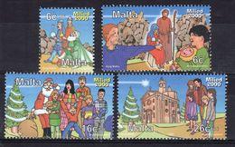 Malta Set Of Stamps To Celebrate Christmas 2000. - Malta