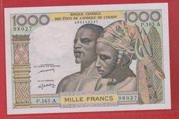 Etats De L'Afrique De L'Ouest / A = Côte D'Ivoire / 1000 Francs / SPL - Elfenbeinküste (Côte D'Ivoire)