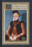 "Ruanda Rwanda 1973 Mi 567 A YT 528 ** ""Portrait Of A Lady"" (1565) By Cranach The Younger / Gemälde - 1970-79: Ongebruikt"