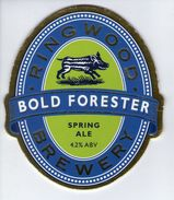 RINGWOOD BREWERY (RINGWOOD, ENGLAND) - BOLD FIRESTER SPRING ALE - PUMP CLIP FRONT - Uithangborden
