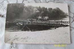 Carte Photo DAMERY Ou CUMIERES? Pont Provisoire Militaires Français (tache En Bas A Gauche Voir Scan) - Other Municipalities