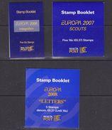 Europa Cept 2006/2007/2008 Malta 3 Booklets ** Mnh (37030) - Europa-CEPT