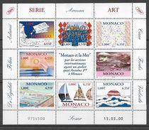 Timbre(s) Neuf(s)** De Monaco ,  N°2240-47 En Feuillet,les Artistes Et La Mer, Folon, Adami, Arman... - Neufs