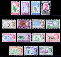 Cayman Islands 1962-1964 MNH Set SG 165/179 Cat £90 - Cayman Islands