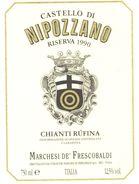 1427 - Italie - 1990 - Sieci - Castello Di Nipozzano - Riserva - Chianti Rúfina - Marchesi De Frescobaldi - Rode Wijn