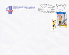 DC-0737 - 1992 NETHERLANDS - RR FDC VOLLEYBALL OLYMPICS - ORIGINAL COVER NEVOBO - VOLLEYBALL ORGANIZATION - Volleyball