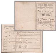 Carte Abonnement SNCB   1940 - Europa