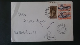 REPUBBLICA.ITALIA.REPUBBLICA ITALIANA.BUSTA.AFFRANCATURA MISTA.CORMONS.GORIZIA.STADIO.CALCIO.PLINIO..86 - 6. 1946-.. Republic