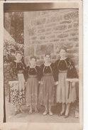 GUEMENE Sur SCORFF : Costumes De...... Rare Carte Photo ! - Guemene Sur Scorff