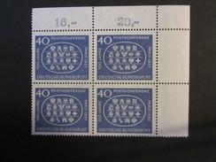 BRD Nr. 398 Viererblock Eckrand Postfrisch** (C23) - BRD