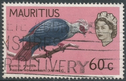 Mauritius. 1968 Birds. New Background Colours. 60c Used. SG 374 - Mauritius (1968-...)