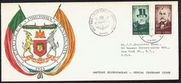 1955  Pretoria Centenary  Registered FDC To USA - South Africa (...-1961)