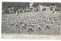 Cpa. 44 SAINT JEAN DE BOISEAU (a. St Nazaire) Festival Du 19 Juin 1910 - Mouvements D'Ensemble (Gymnastique) - Autres Communes