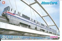 Train Rail Pont Carte Prépayée Japon Card Karte  (D.13) - Treni