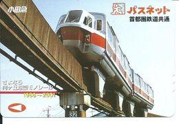 Train Rail Pont Carte Prépayée Japon Card Karte  (D.14) - Trains