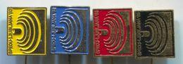 Weightlifting  - SPEDU / World Championships 1982. Ljubljana Yugoslavia, Vintage Pin Badge, Abzeichen, 4 Pcs - Weightlifting