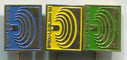 Weightlifting  - SPEDU / World Championships 1982. Ljubljana Yugoslavia, Vintage Pin Badge, Abzeichen, 3 Pcs - Weightlifting