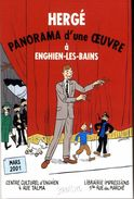 TINTIN  HERGE  PANORAMA D UNE OEUVRE  A ENGHIEN LES BAINS  ILLUSTRATION STANISLAS  MARS 2001 - Cartes Postales