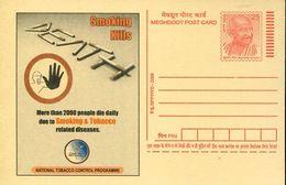 27732 India, Stationery Card  Smoking & Tobacco, Smoking Kills - Drogue