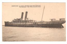 Zeebrugge - Le Vapeur Brussels, Cap. Fryat Renfloué - Boat / Bateau / Schiff / Boot / Steamer / Dampfschiff - Zeebrugge