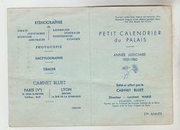 ARCHIVE REFUGIE ESPAGNOL EN FRANCE - 2 Calendriers Petit Format DU PALAIS 90 X 130 Mm Année 59/60 Et 60/61 Cabinet BLUET - Calendriers