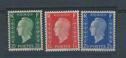 FRANCE - Timbres N° 701 D - 701 E Et 701 F - Neufs Luxe- Marianne De DULAC Dite édition De LONDRES. - 1944-45 Marianne Of Dulac