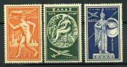 Grecia 1954 Mi. 615-617 Nuovo * 100% NATO - Greece