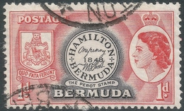 Bermuda. 1953-62 QEII. 1d Used. SG 136 - Bermuda