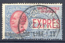 1921 ESPRESSO N.5 L.1,20 SU 30 CENT. USATO - USED - 1900-44 Vittorio Emanuele III
