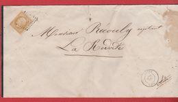 Faire Part De Décès / De Cette / Pour La Redorte / 30 Juillet 1857 - Postmark Collection (Covers)