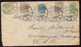 Denmark Svensborg To USA Menominee Cover 1892 - 1864-04 (Christian IX)