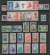FRANCE - ANNEE COMPLETE 1943 - 31 Timbres Neufs Luxe** Du N° 568 Au N° 598. Voir Descriptif. - 1940-1949