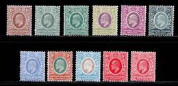 East Africa & Uganda 1907-1910 MH Set + Varieties SG 34/42, 43 Cat £147 - Kenya, Uganda & Tanganyika