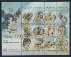 San Marino 2002 Sass. Bl. 69 Minifoglio 100% Natale ** - Blocks & Sheetlets
