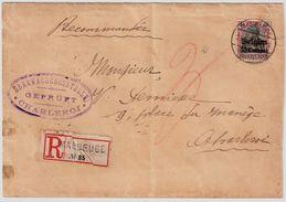 """1915 """" Maubeuge """"  Lettre Recommandee, R!  , #8813 - [OC1/25] General Gov."""
