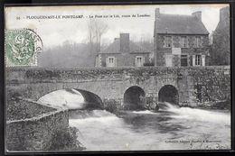 CPA 22 - Plouguenast-le-Pontgamp, Le Pont Sur Le Lié Route De Loudéac - Frankreich