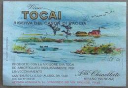 Etichetta Vino - F.lli Chinellato Mirano Venezia - Vino Tocai - Anni 60 - Publicidad