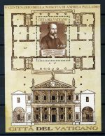 Vaticano 2008 Sass. 88 Foglietto 100% Andrea Palladio ** - Blocks & Sheetlets & Panes