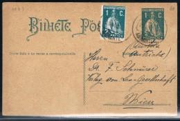 Portugal, 1915, # 208, Abrantes-Wien - 1910-... República