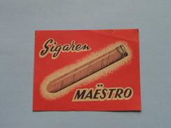 Sigaren MAËSTRO : Formaat 6,5 X 5 Cm. ( Zie Foto's ) ! - Matchbox Labels
