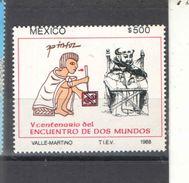Messico PO 1988 Incontro Due Mondi Scott.1566++ See Scans Nuovi - Messico