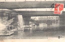 Paris-Venise - Inondations 1910 - Rue Proud'hon Sous Le P.L.M. (éditeur Fleury-Colas FF CCC N°145) - Überschwemmung 1910