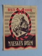 Beste Koffie MAESKES ROEM : Formaat +/- 6,5 X 8,5 Cm. ( Zie Foto's ) ! - Matchbox Labels