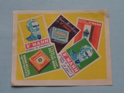 Dr. MANN : Formaat +/- 6,5 X 8,5 Cm. ( Zie Foto's ) ! - Matchbox Labels