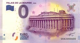 75 PARIS PALAIS DE LA BOURSE BILLET ZERO EURO SCHEIN SOUVENIR 2017 BANKNOTE BANK NOTE PAPER MONNAIE - EURO
