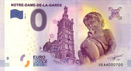 13 MARSEILLE NOTRE DAME DE LA GARDE ANGELOT BILLET ZERO EURO SCHEIN SOUVENIR 2017 BANKNOTE BANK NOTE PAPER MONNAIE - EURO