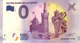 13 MARSEILLE NOTRE DAME DE LA GARDE LA VIERGE BILLET ZERO EURO SCHEIN SOUVENIR 2017 BANKNOTE BANK NOTE PAPER MONNAIE - EURO